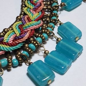 Zad Statement Bib Necklace Colorful